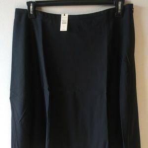 Talbots A-Line Skirt, Black Size: 14